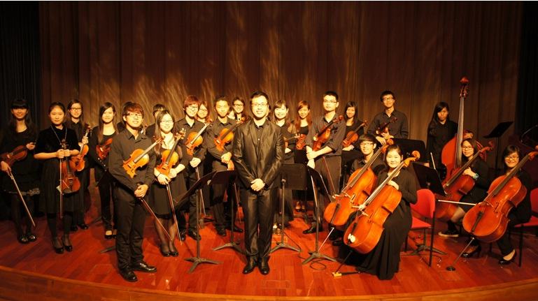 Group photo of String Orchestra members