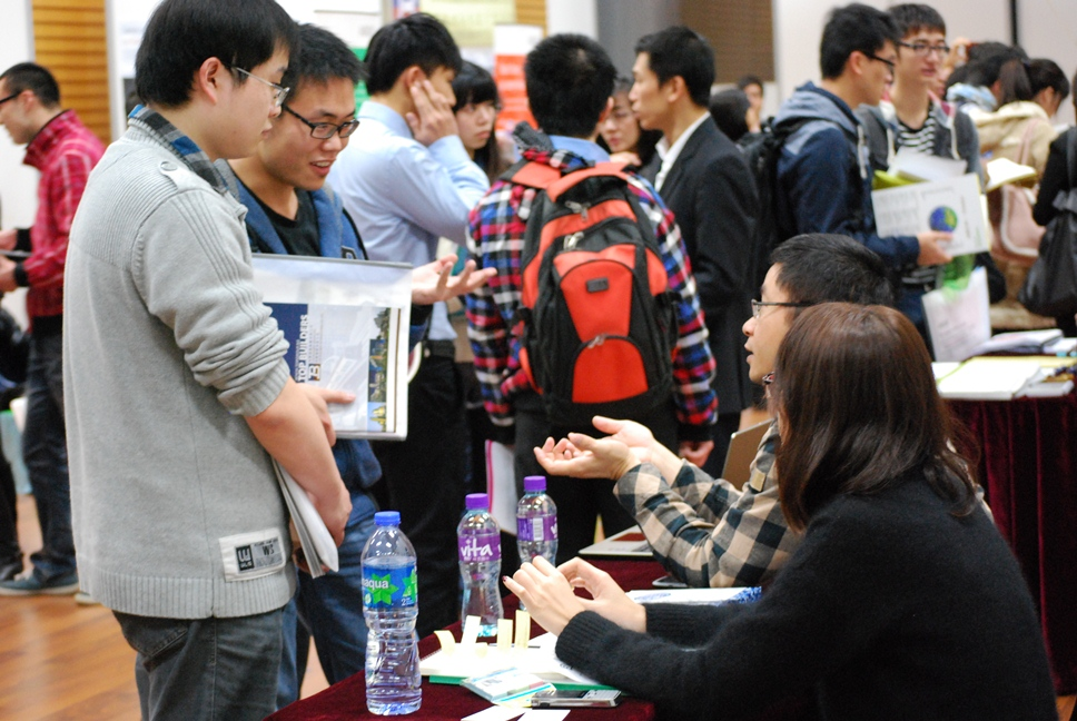 A lot of students attend the Career Fair 2013