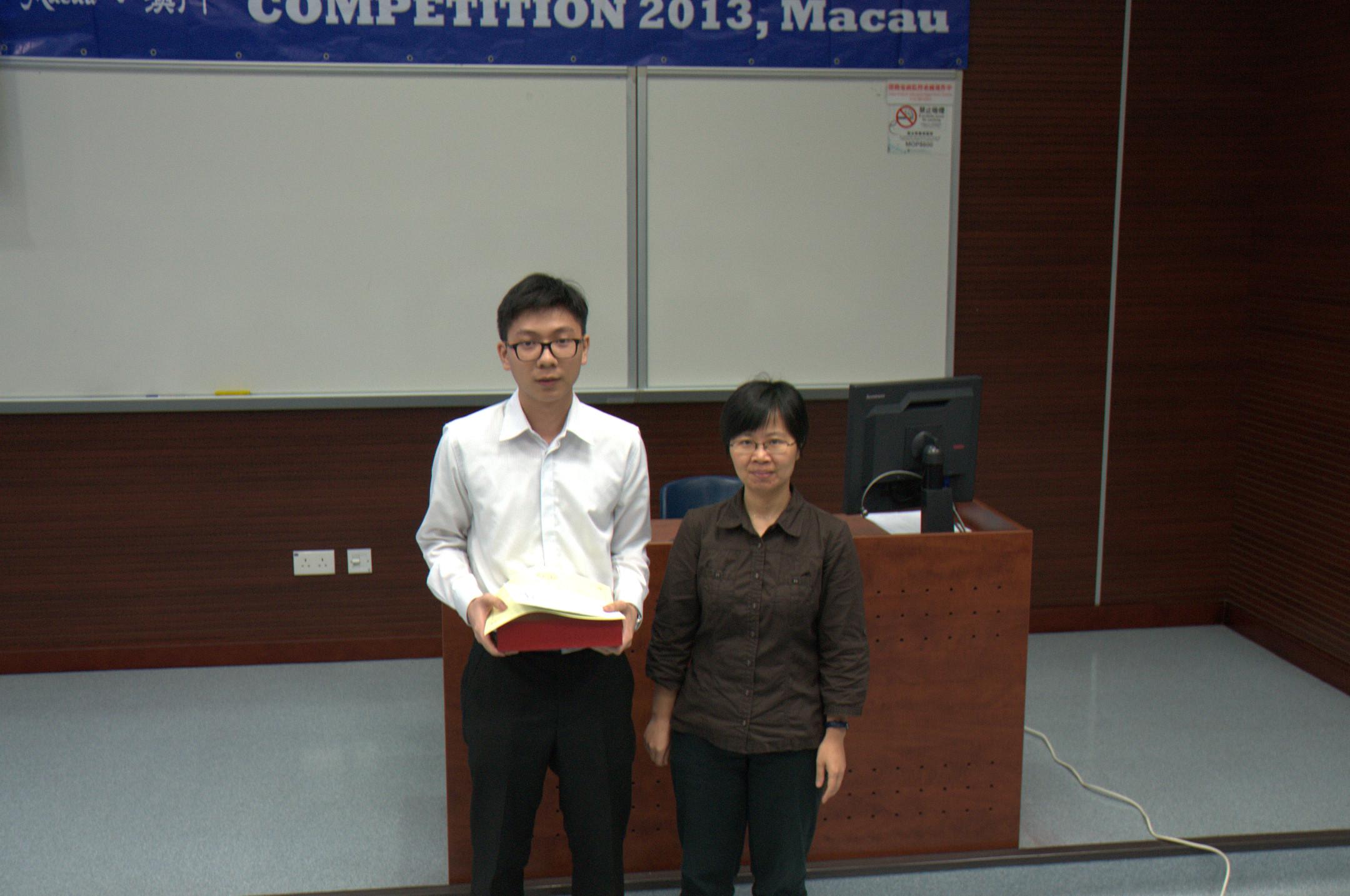 First runner-up Lao Ka Fai (left)