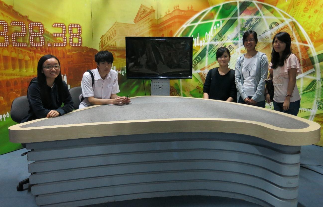 UM Reporters in the television studio