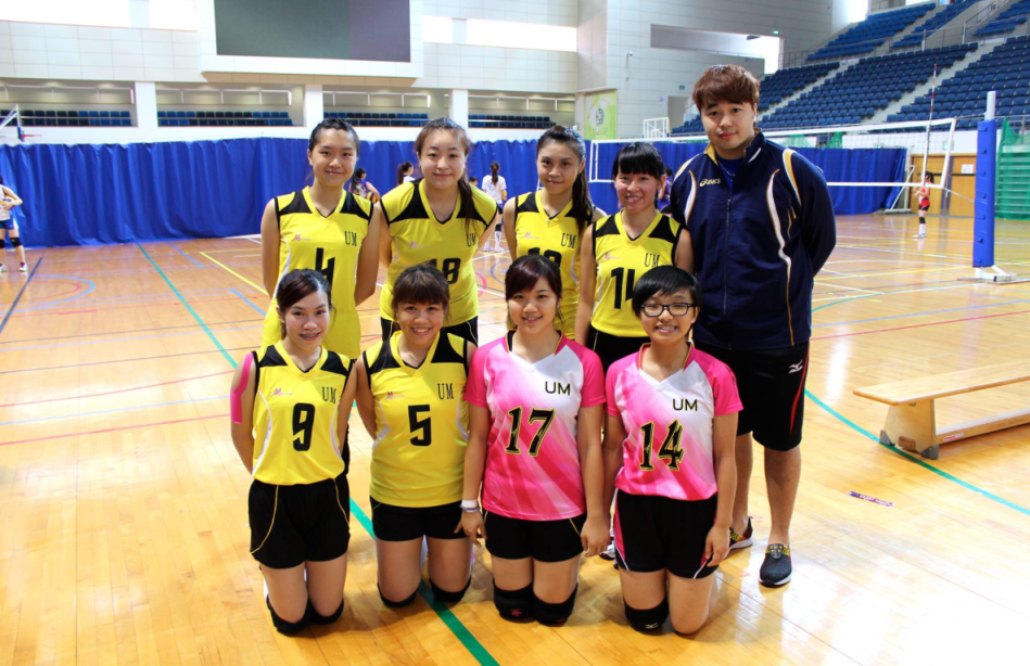 UM's Volleyball Team (Women) places fourth in the Women's Group B at the Macao Volleyball League 2013.