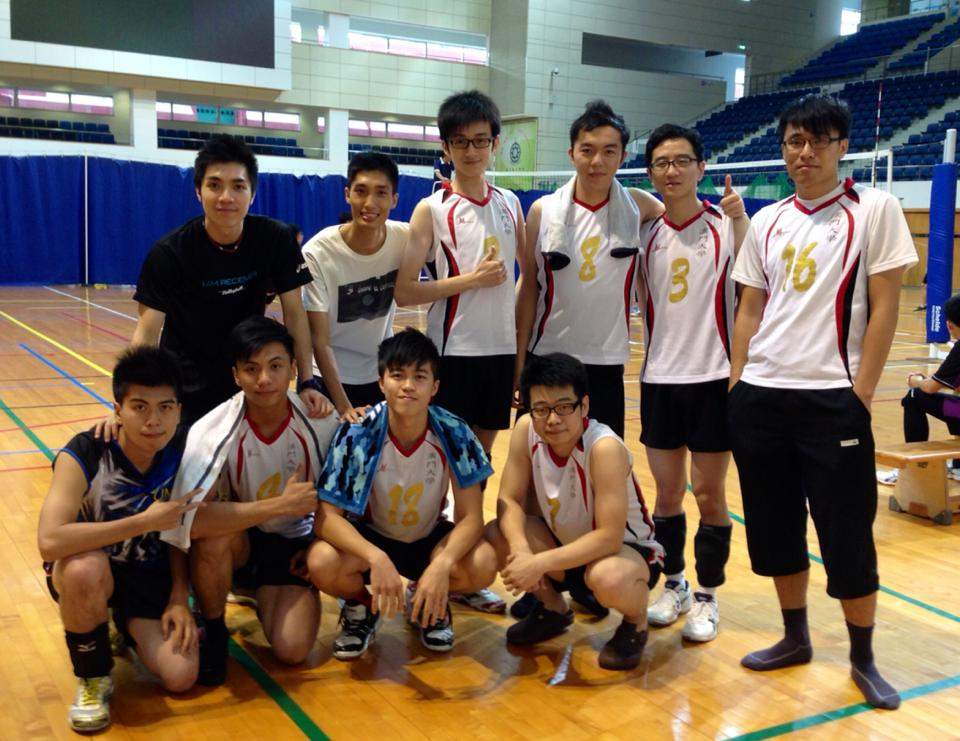 UM's Volleyball Team (Men) places fifth in the Men's Group B at the Macao Volleyball League 2013.