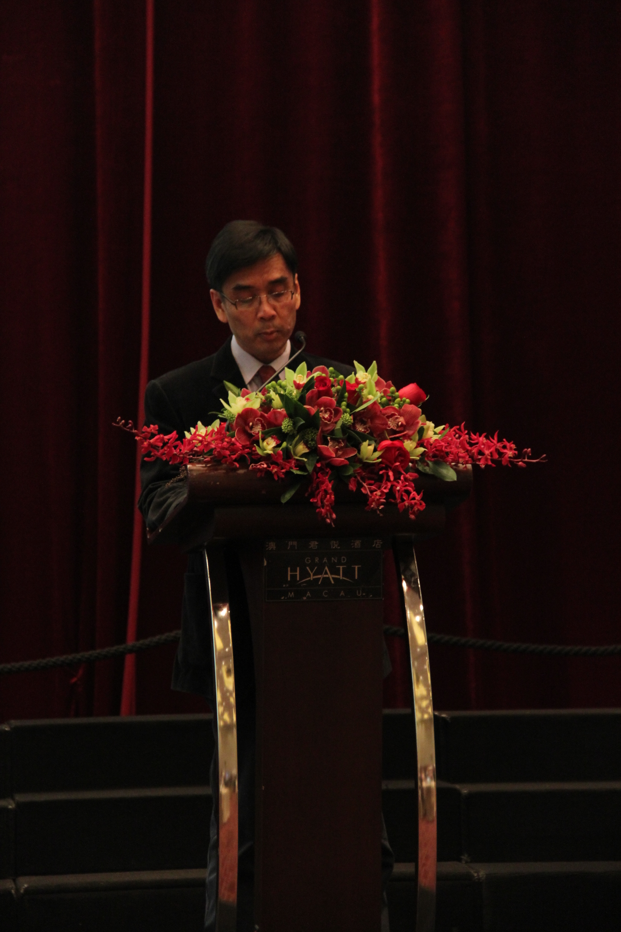 . Opening remarks by East Asia College Master Prof. Iu Vai Pan
