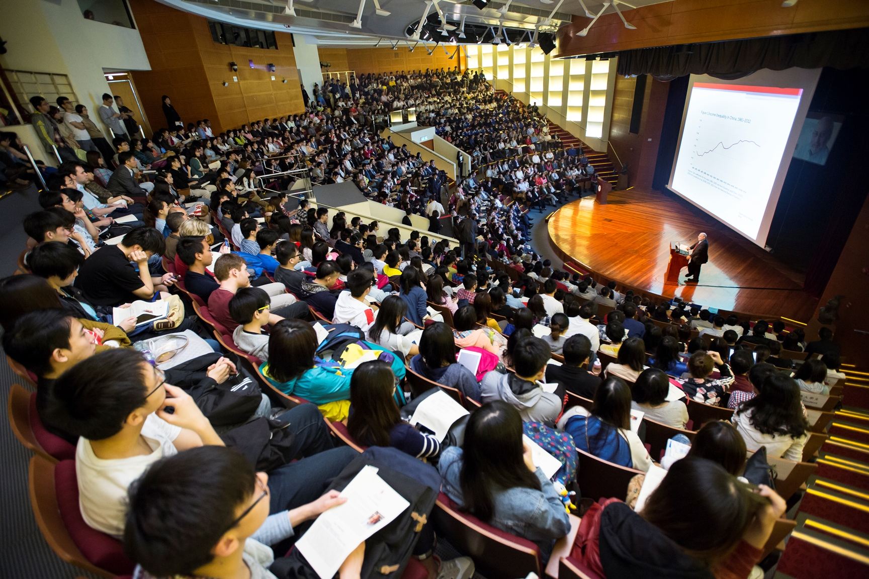 The Nobel lecture attracts a full-house audience.