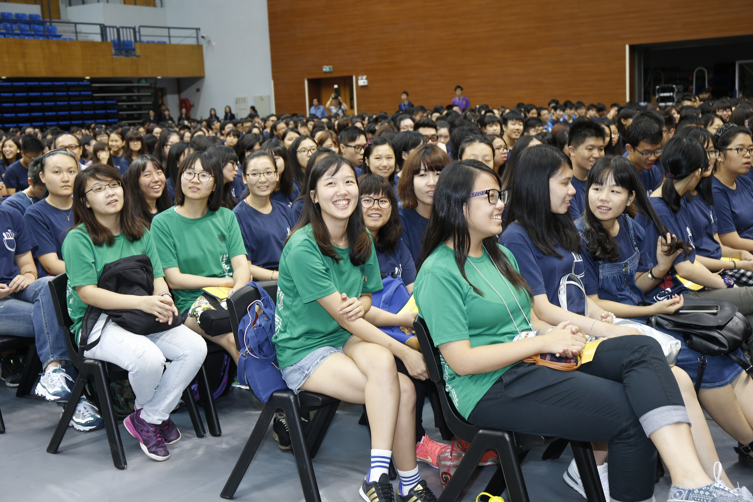 The new students are excited about the four college years ahead of them