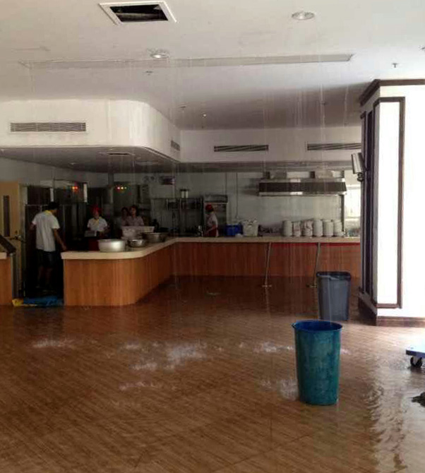 Campus Management Office manages to fix a burst pipe within two hours