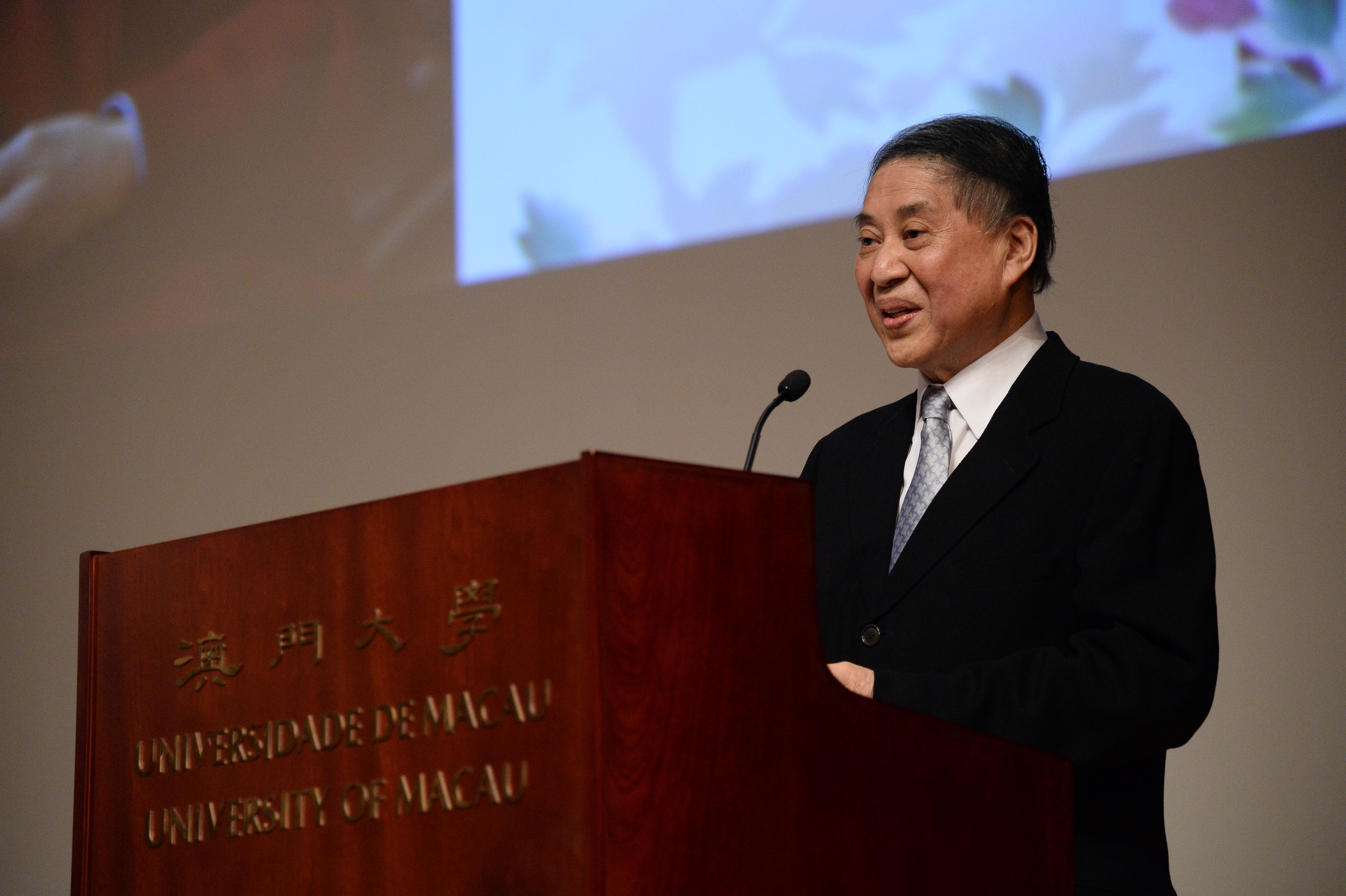 The renowned writer Pai Hsien-yung gives a talk at UM on the revitalisation of Kun opera