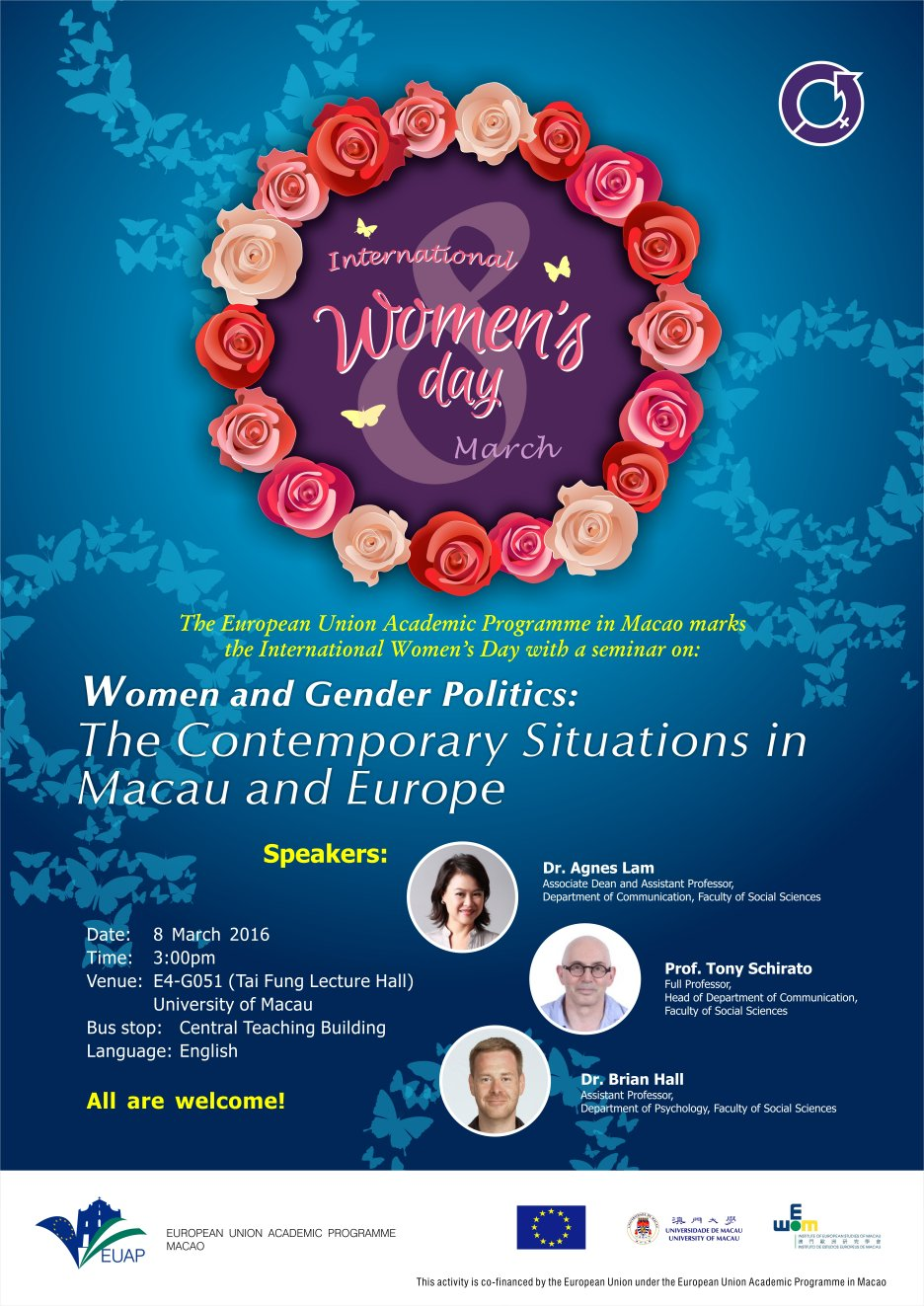 The seminar on 'Women and Gender Politics: The Contemporary Situations in Europe and Macau'