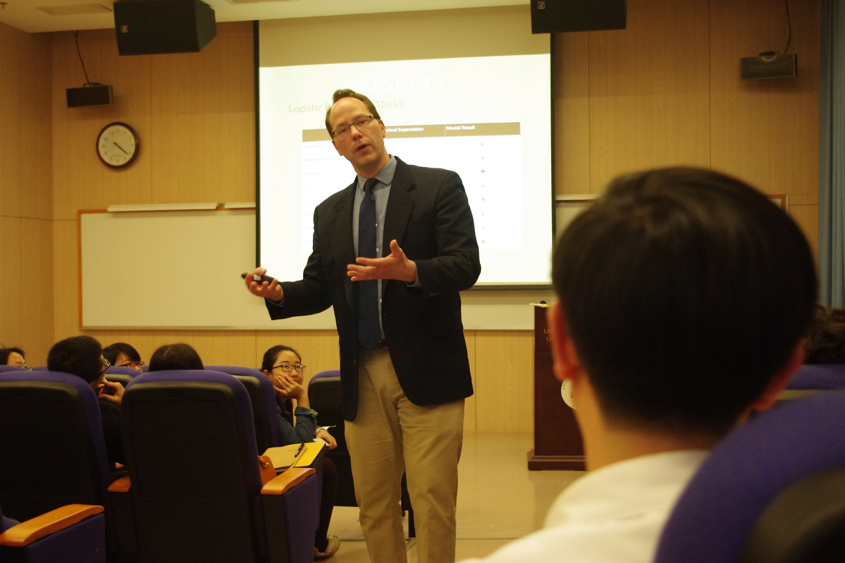 Prof Gregg B Johnson gives a talk at UM on China's relations with Latin America