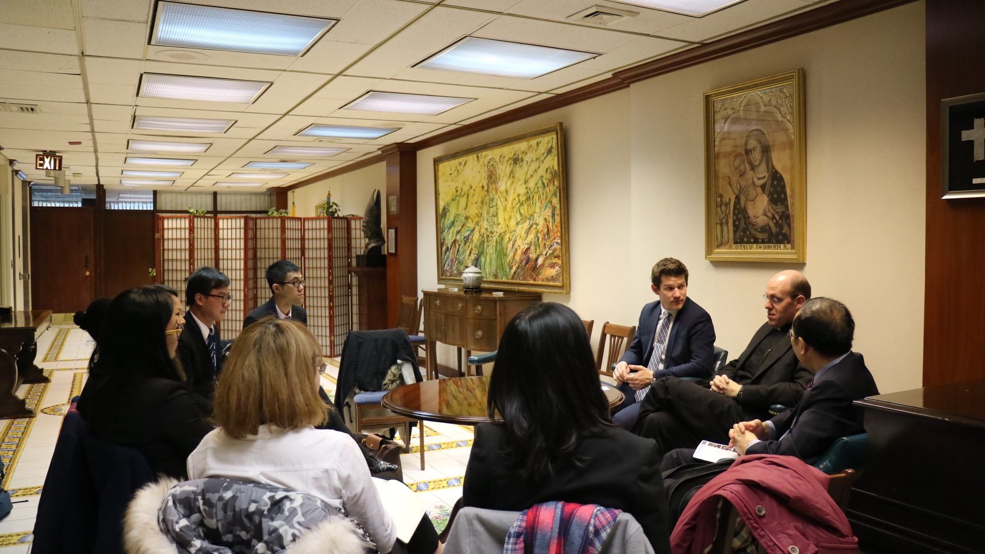 UM's delegation meets with senior diplomats in the Permanent Observer Mission of the Holy See to the UN