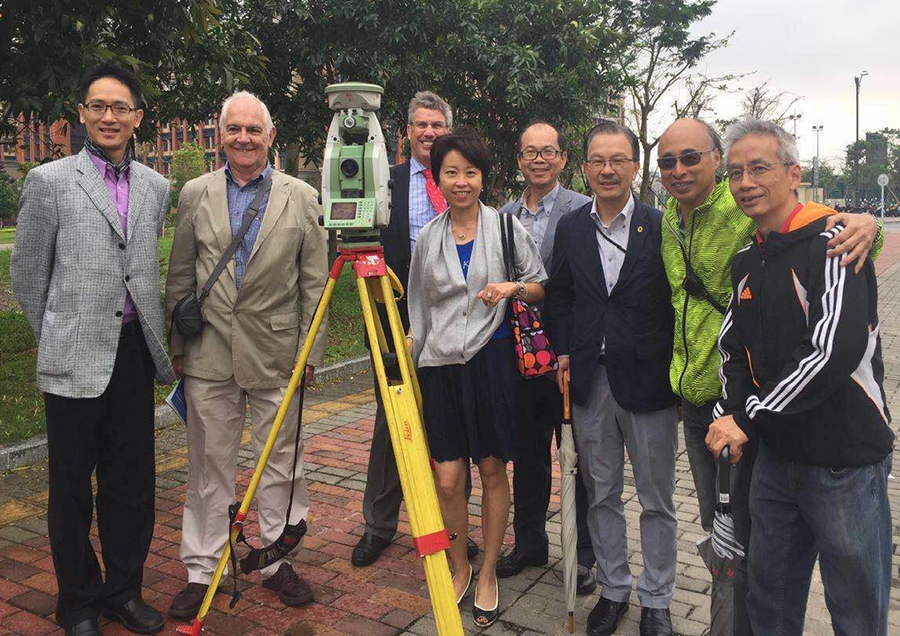A delegation from the Chartered Institution of Civil Engineering Surveyors visits UM