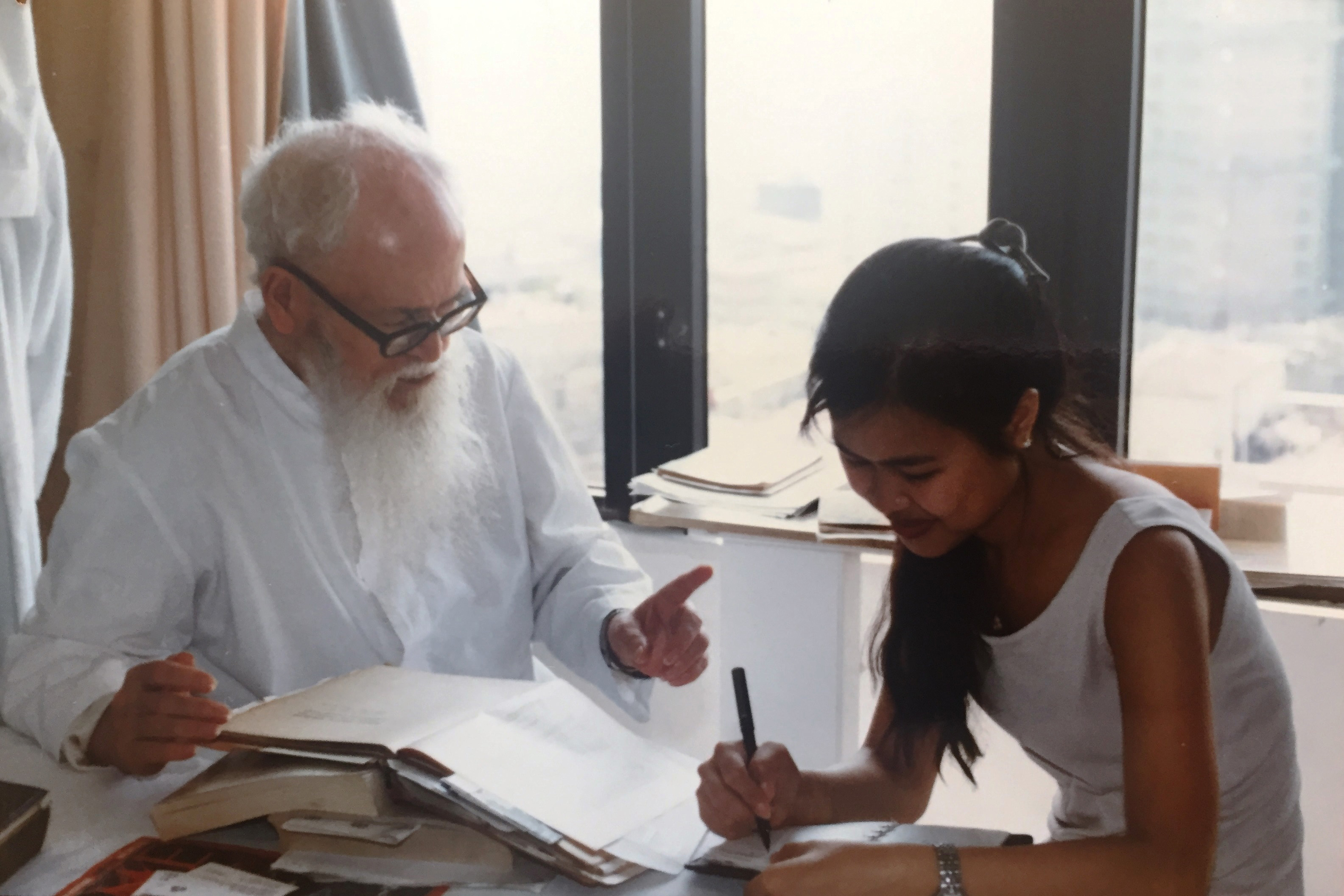 Dr Lam consults the late historian Monsignor Manuel Teixeira