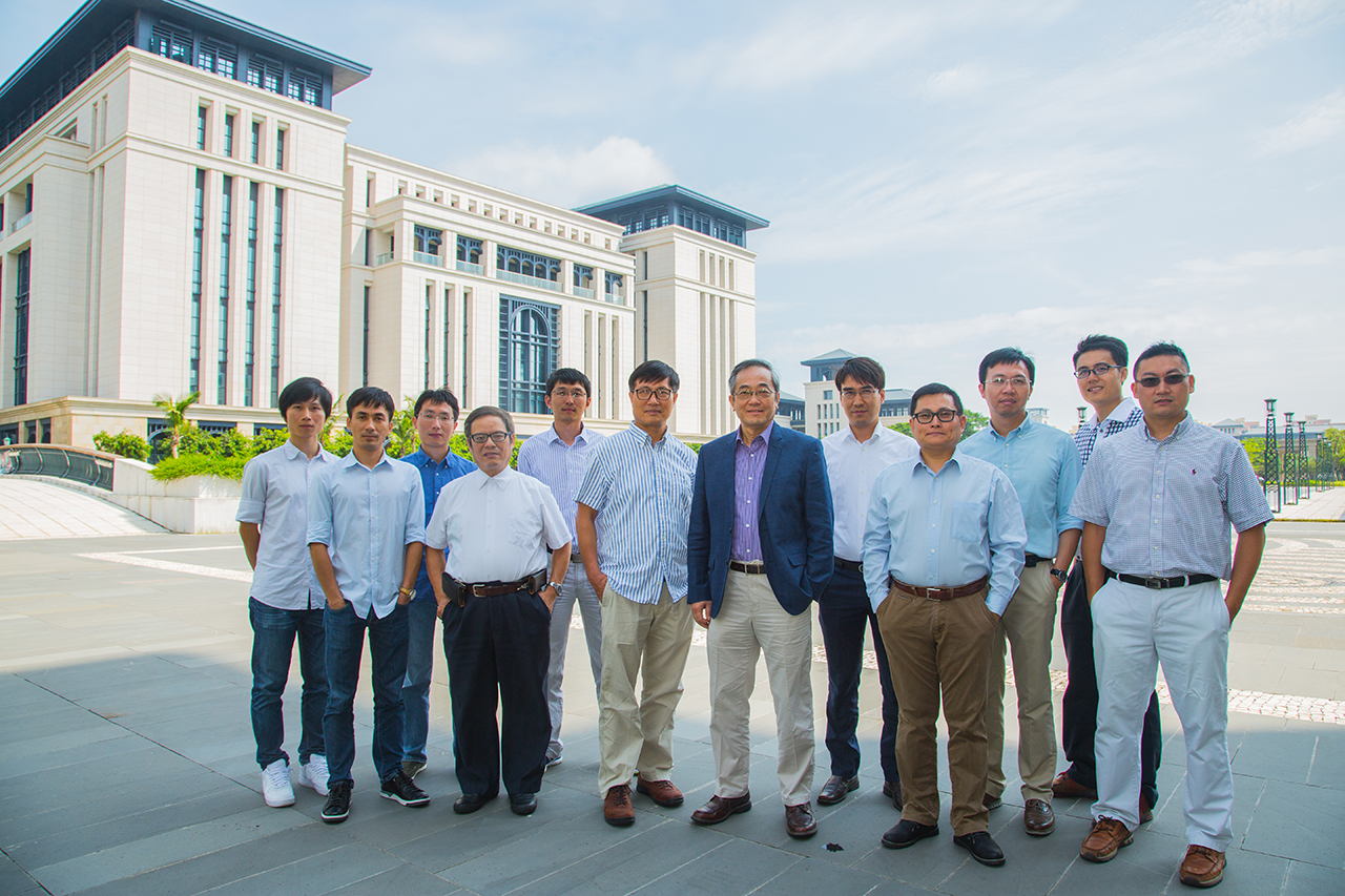 Currently there are more than ten research and teaching staff in the institute, including Vice Rector (Students Affairs) Prof Haydn Chen (7th from left)