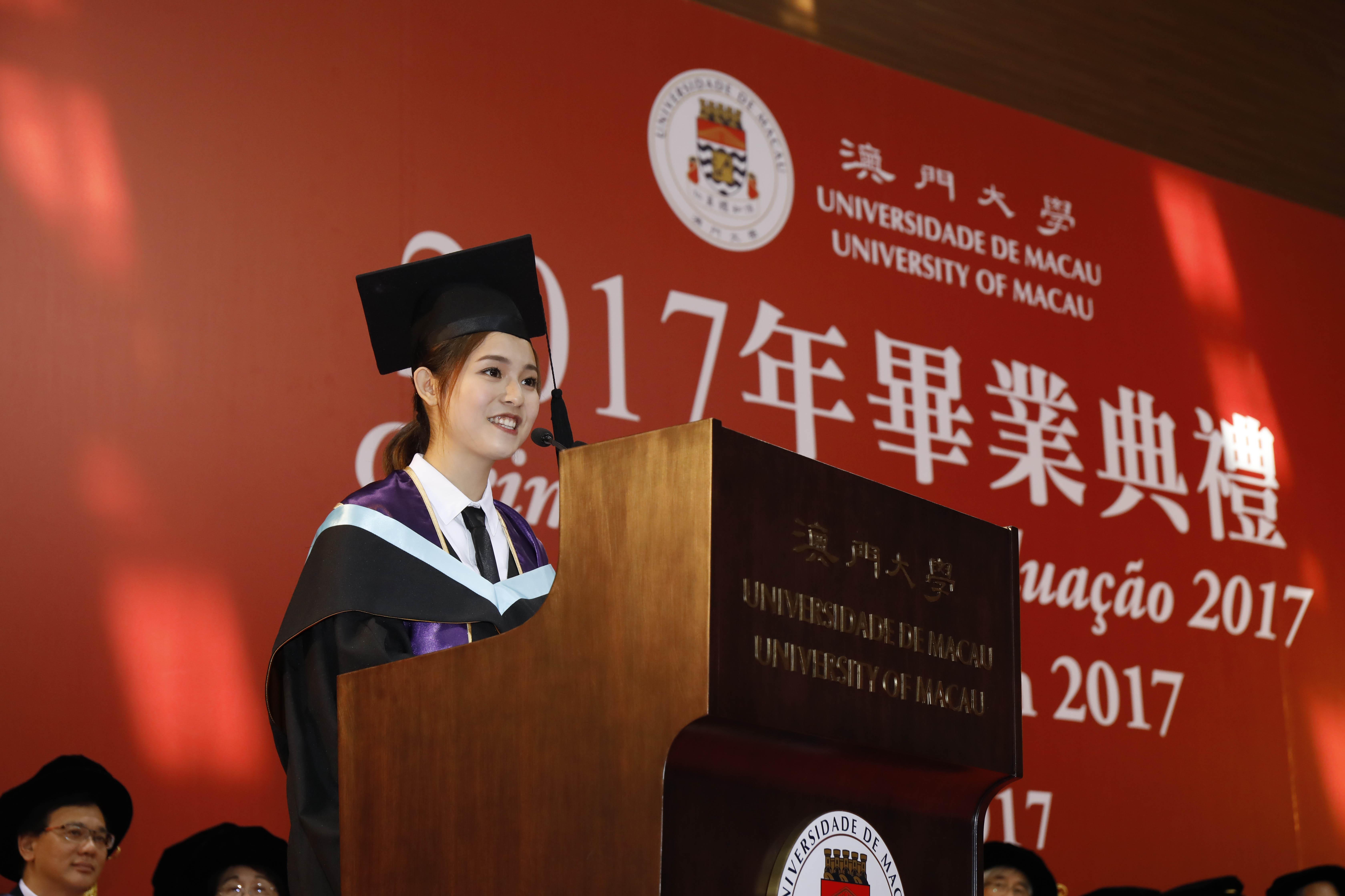 The representative of the graduates