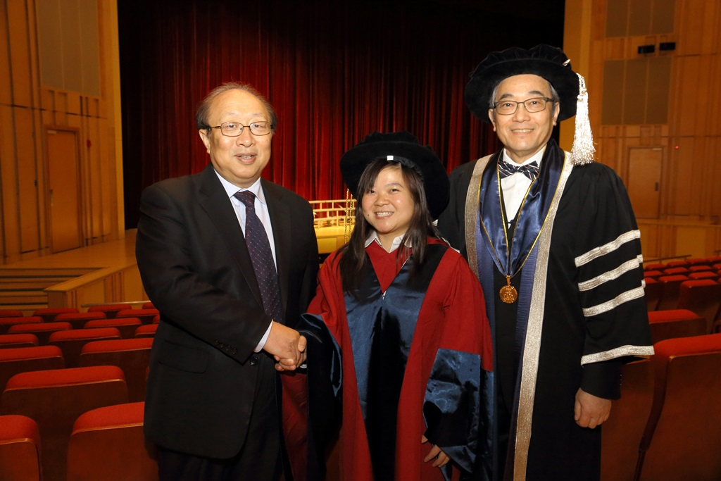 Dr Yao Lingmin, the first PhD graduate from UM's Institute of Applied Physics and Materials Engineering