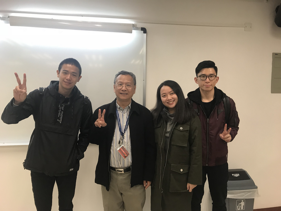 The 'Smart Closet' team with their instructor Prof Jerome Yen at the end of the programme