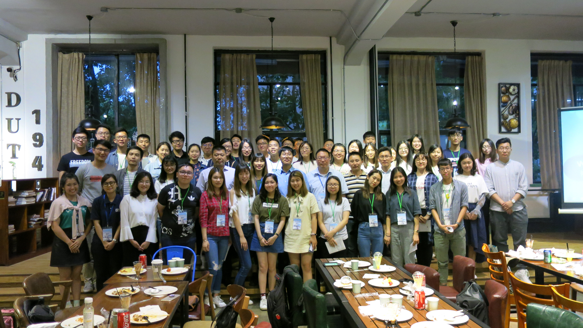 UM students with their counterparts from the Dalian University of Technology