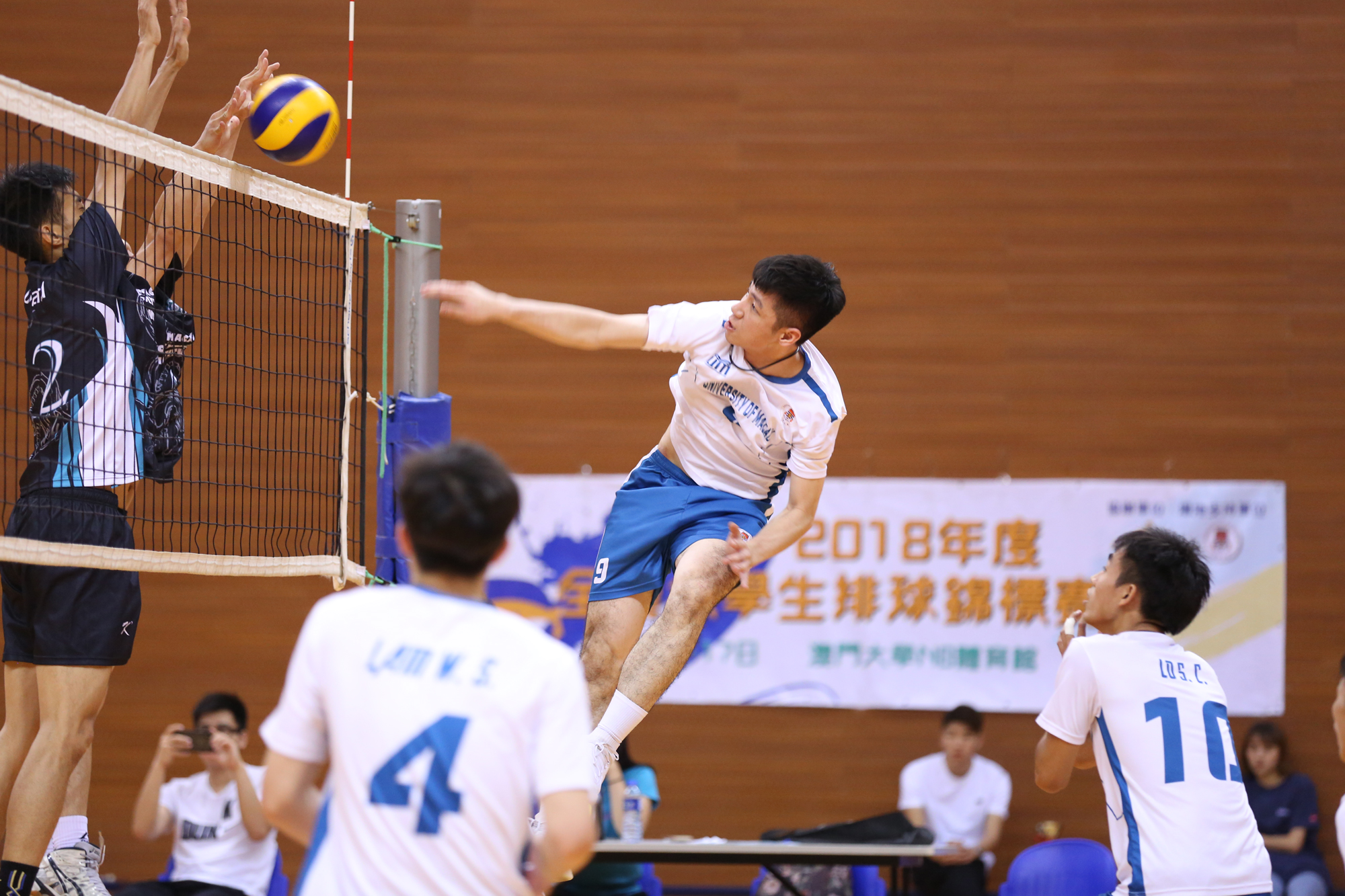 UM Men's Volleyball Team in the competition