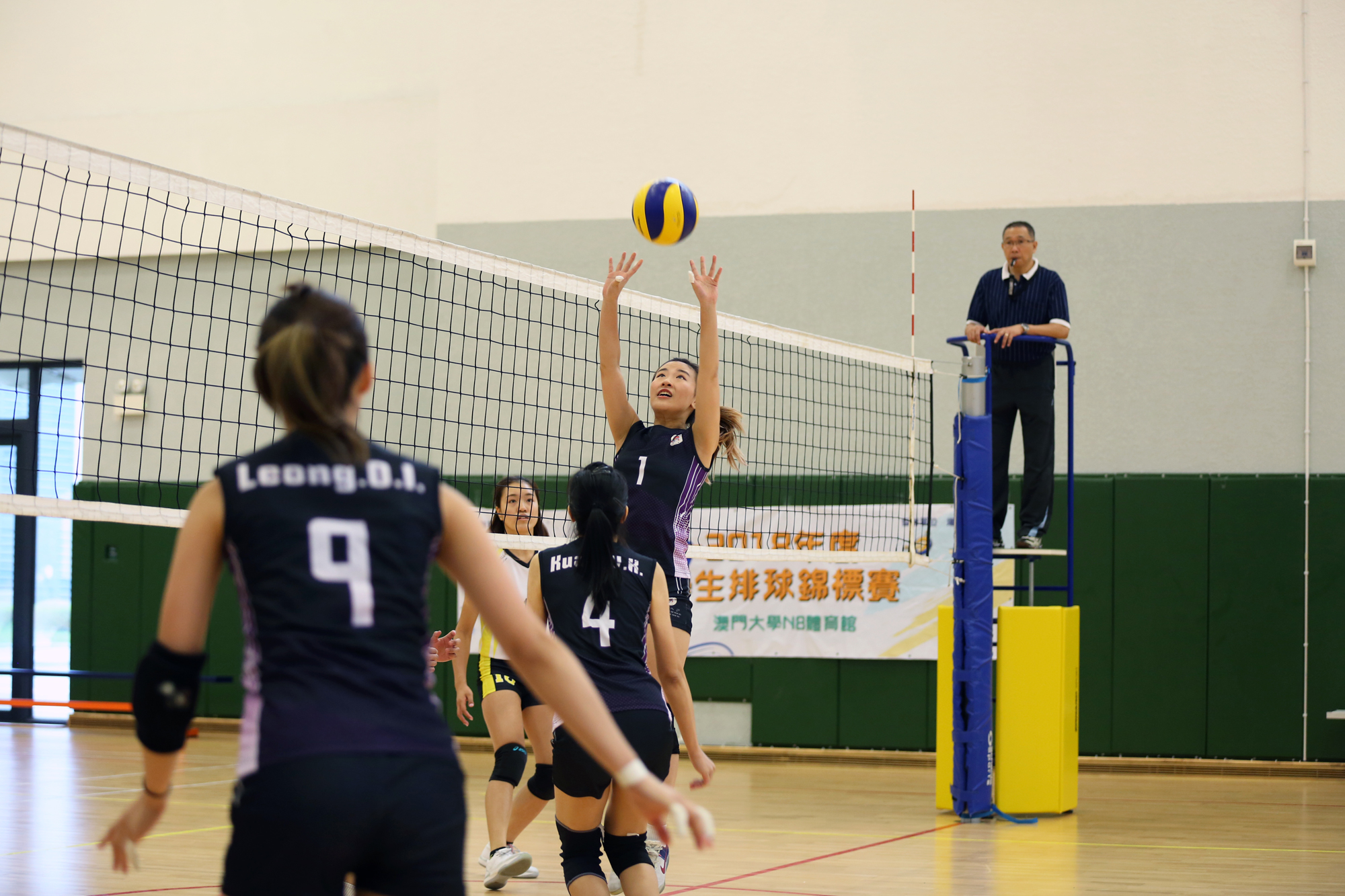 UM Women's Volleyball Team in the competition