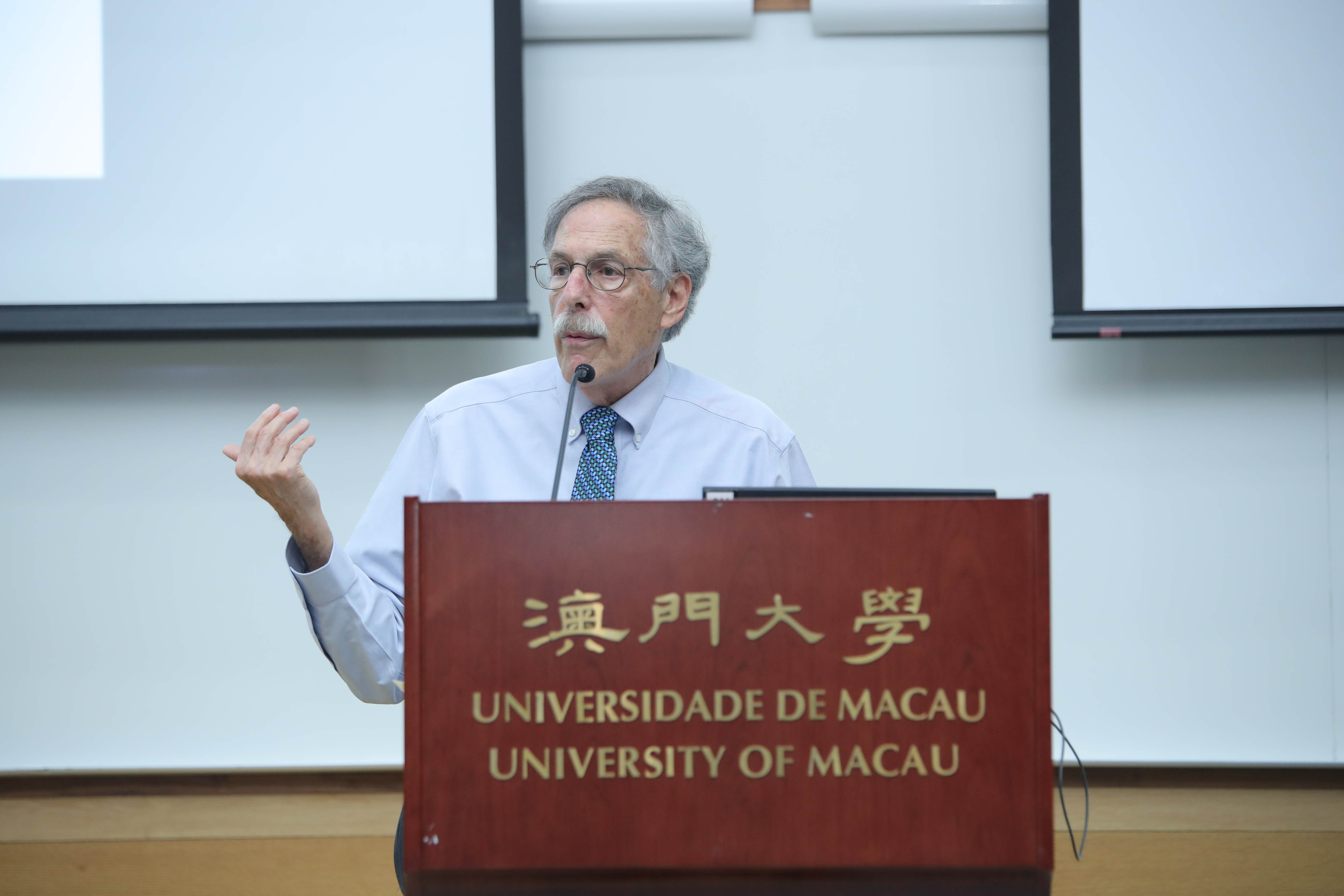 The Nobel laureate Peter A Diamond gives a talk at UM