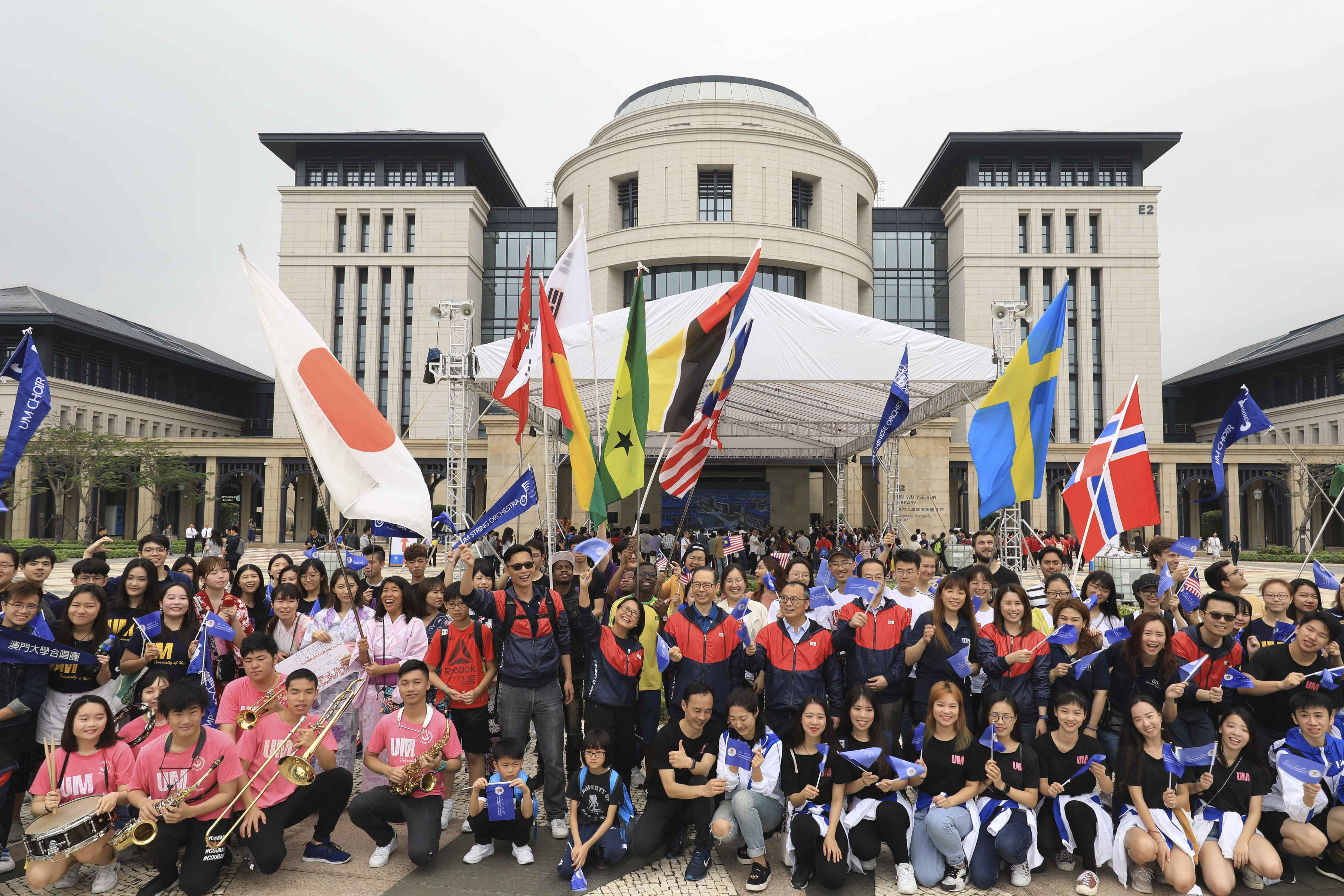 A parade by international students