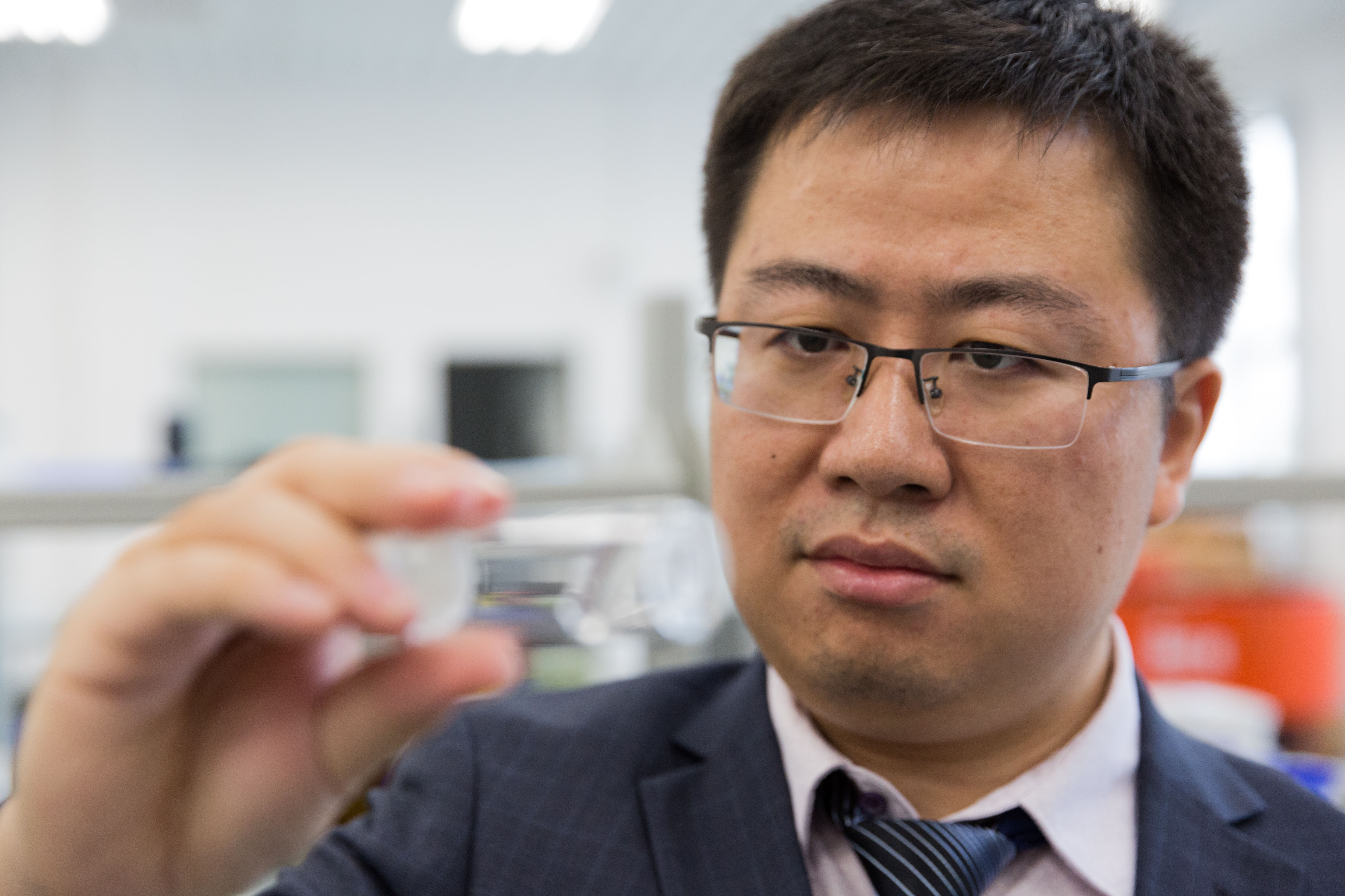 Three China patents are pending for this new type of super hydrogel developed by Sun Guoxing