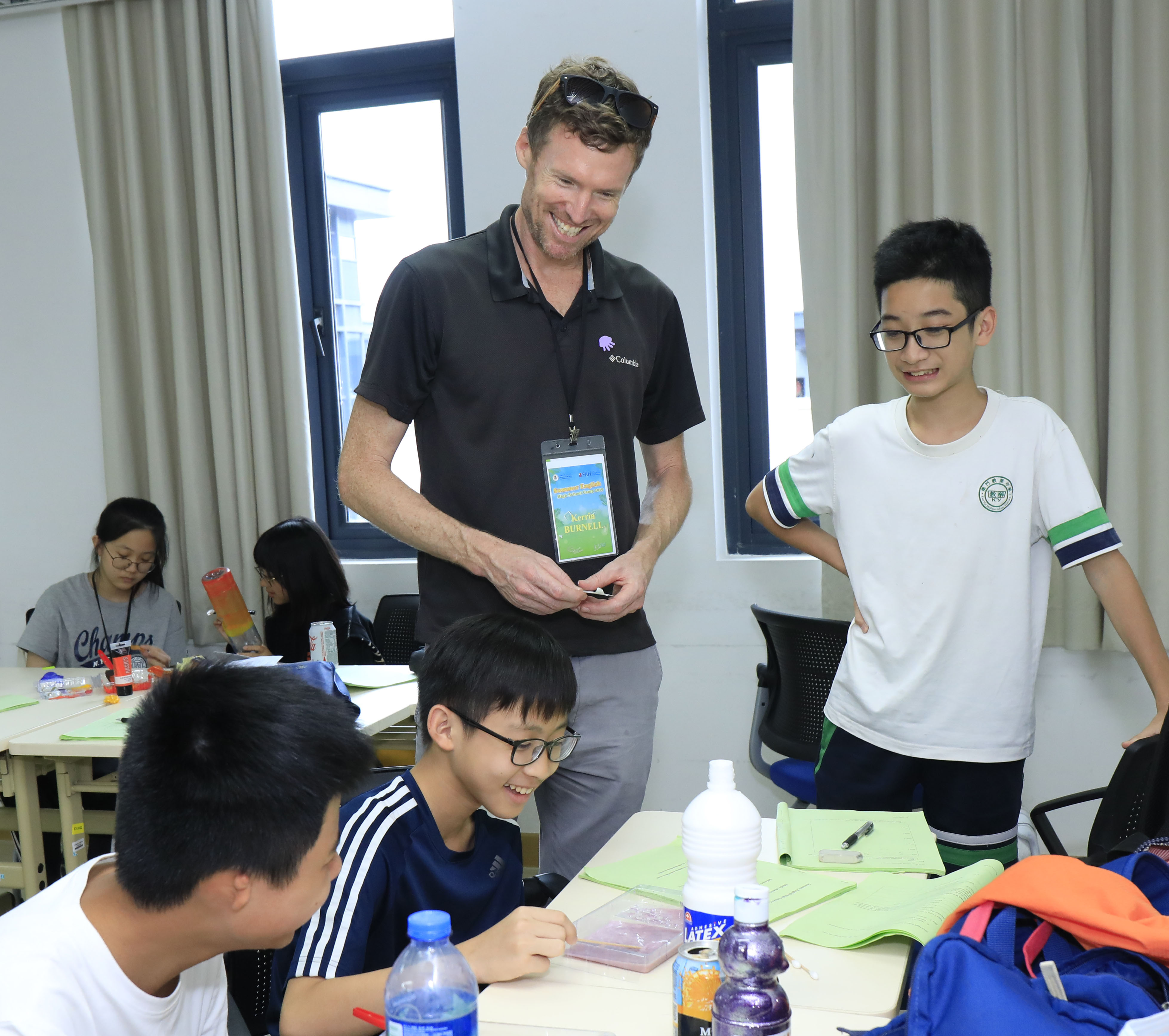 UM's English summer camps are taught by teachers from around the world