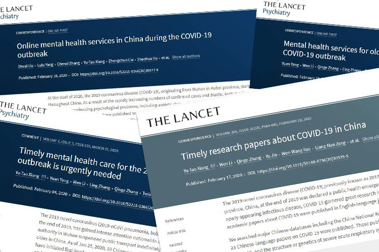 UM scholar publishes four articles on mental health care during epidemic in Lancet