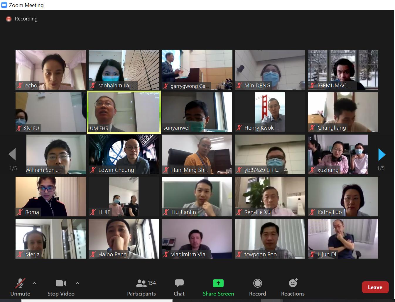 Participants exchange ideas online