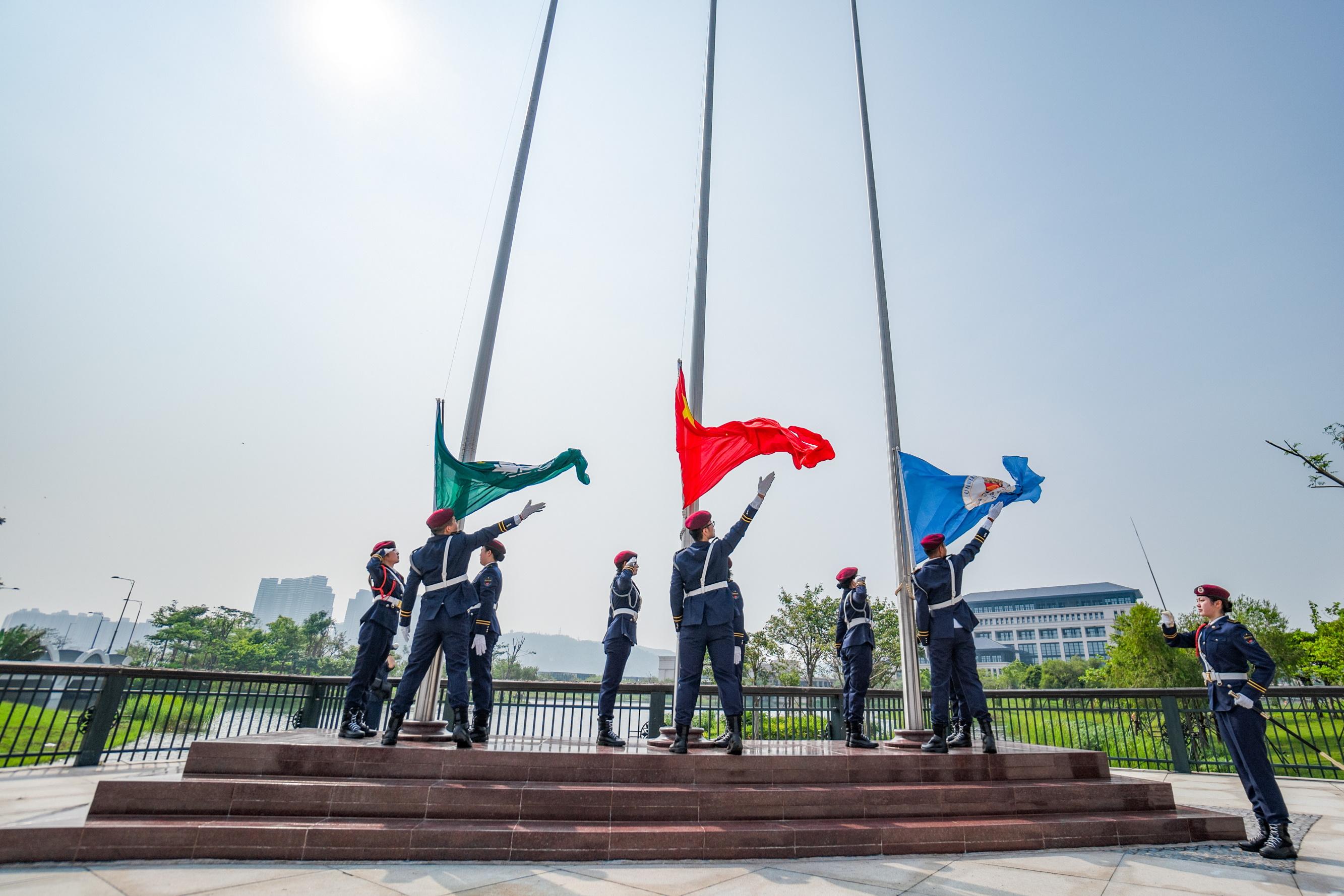 UM holds a flag-raising ceremony before the convocation